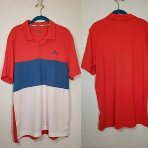 Adidas Golf Color Block Shirt, Size Large